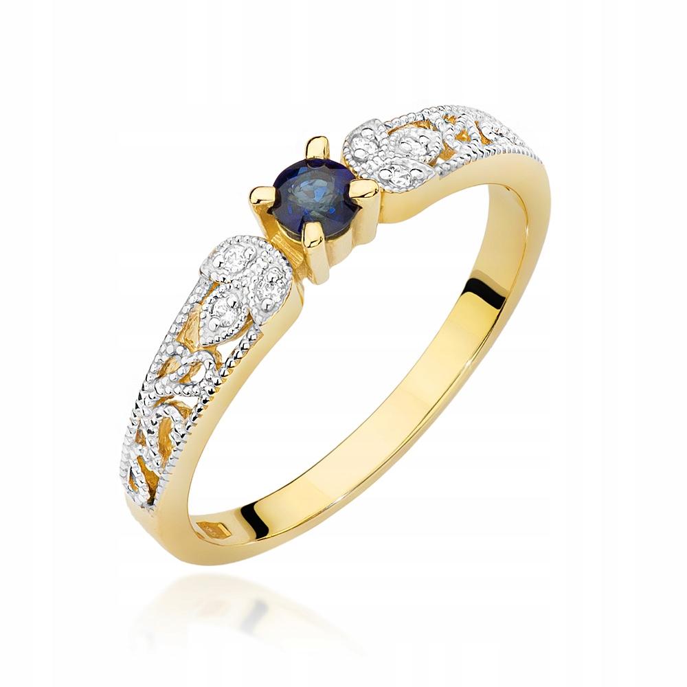 Złoty pierścionek zaręczynowy Brylanty SZAFIR