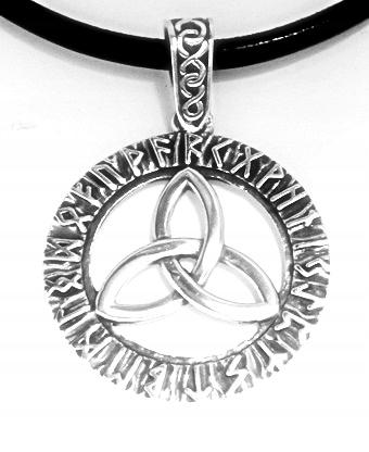 SLOVANSKÉ PRÍVESOK - TRIQUETRA - RUNY 925 sterling Silver