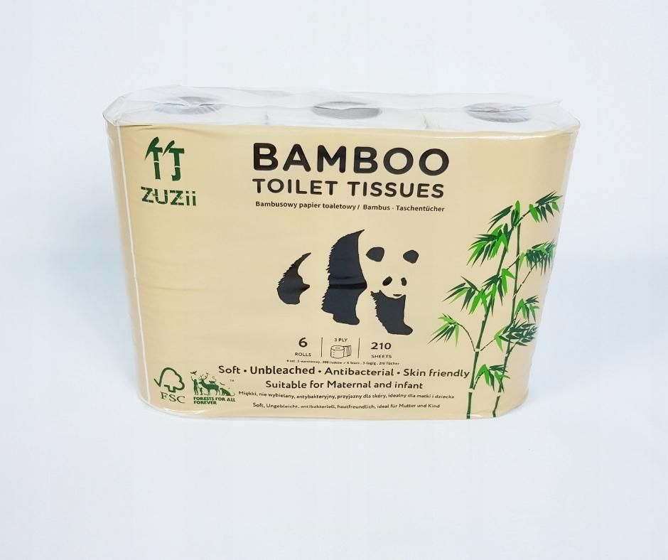 Туалетная Бумага Бамбуковая Zuzii