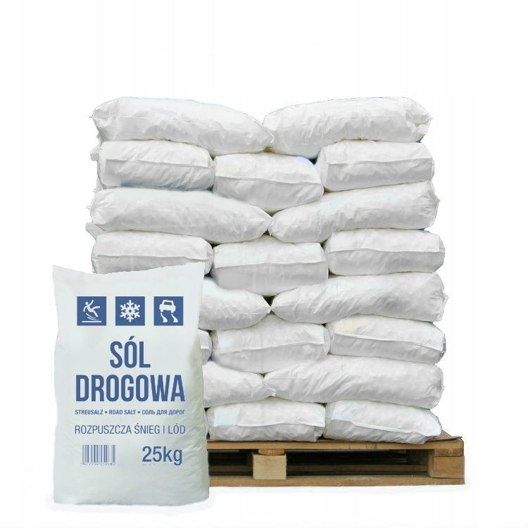 Sól drogowa workowana śnieg lód 1 tona 1000kg