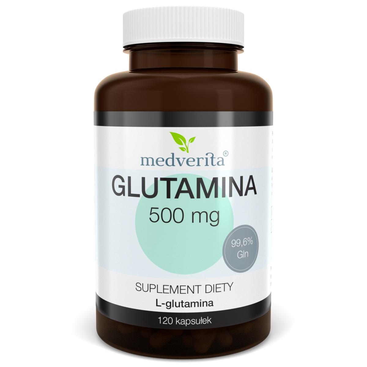 Glutamina L-glutamina 500 mg - 120 kapsułek