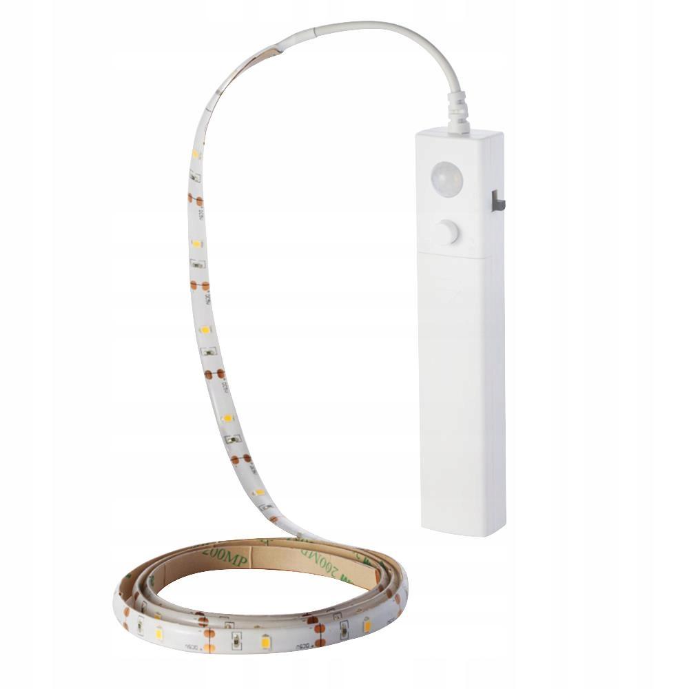 Taśma LED łóżko szafa czujnik ruchu 1m, na baterie