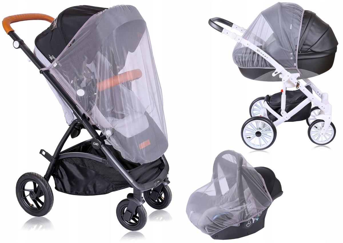 Mio bebe MOSKITIERA 3w1 na wózek fotelik SZARA