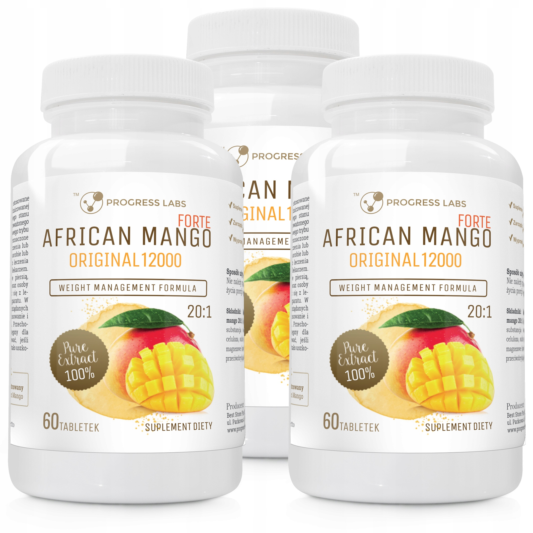 Item African Mango Original 20:1 Extract FORTE 12000mg