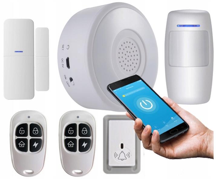 TUYA Smart Alarm WiFi Cz Ruchu Drzwi Powiadomienie