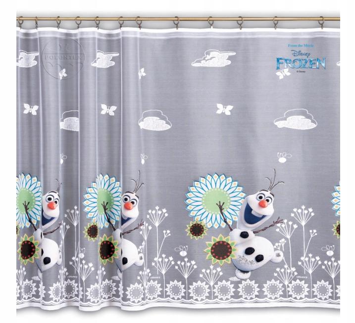 Готовая штора Frozen Olaf с тесьмой по бокам