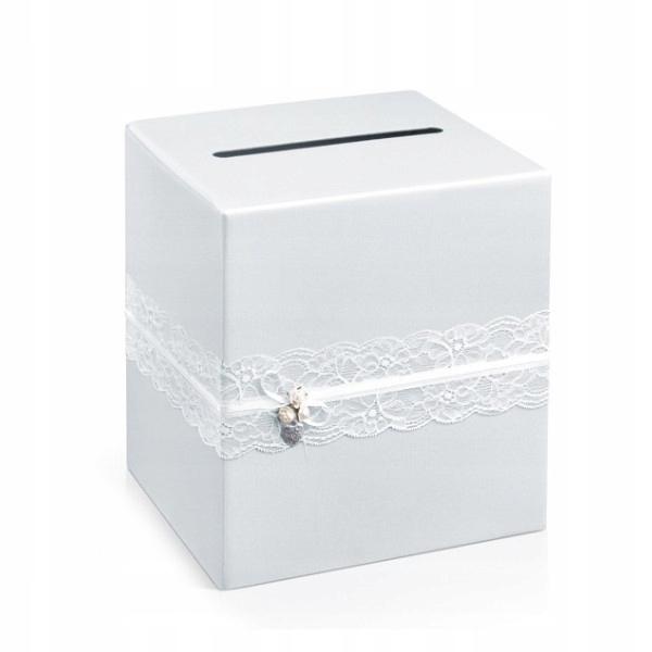 Peniaze box spojka BIELA čipka VINTAGE