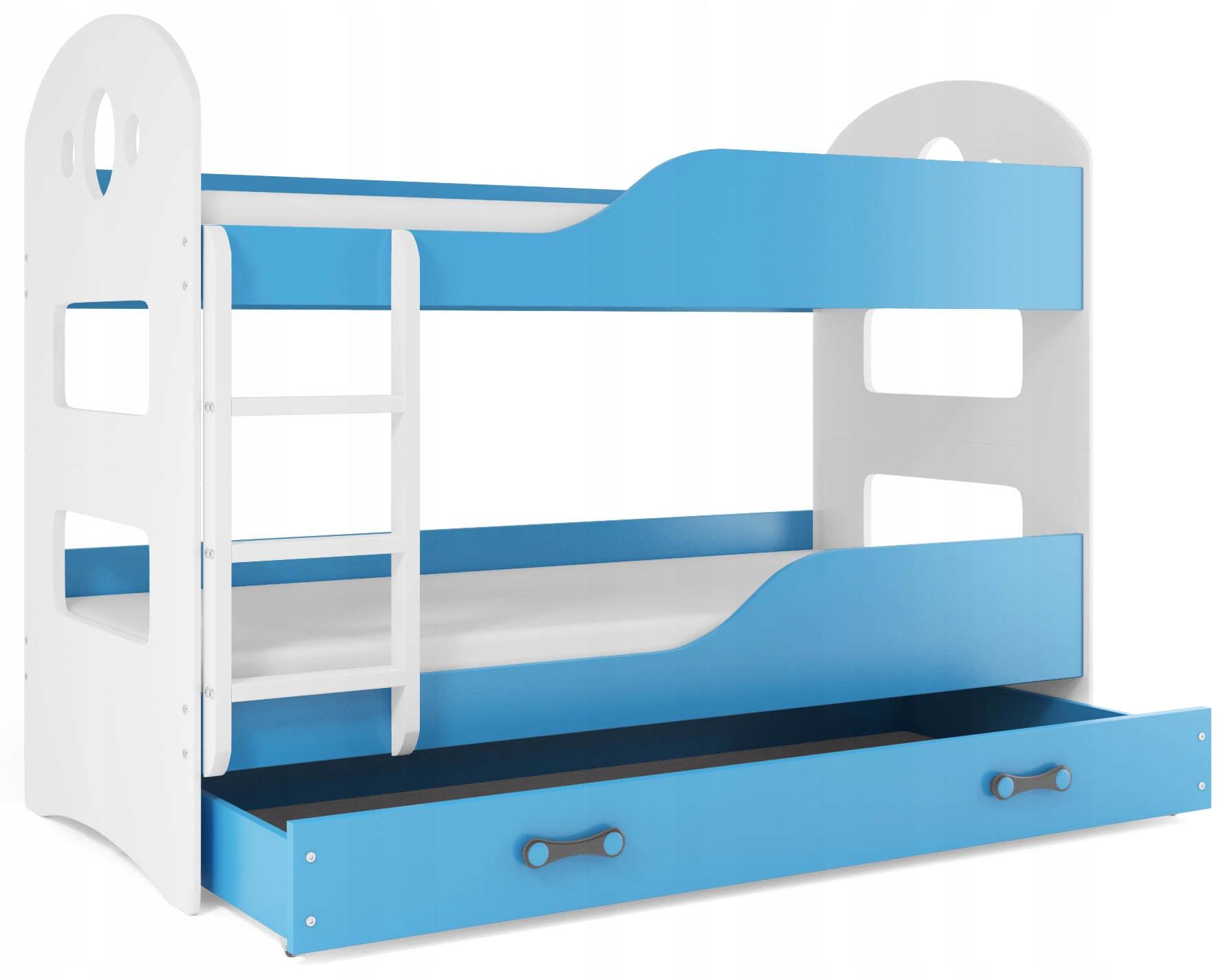 Łóżko piętrowe DOMINIK 160x80 dziecięce i MATERACE