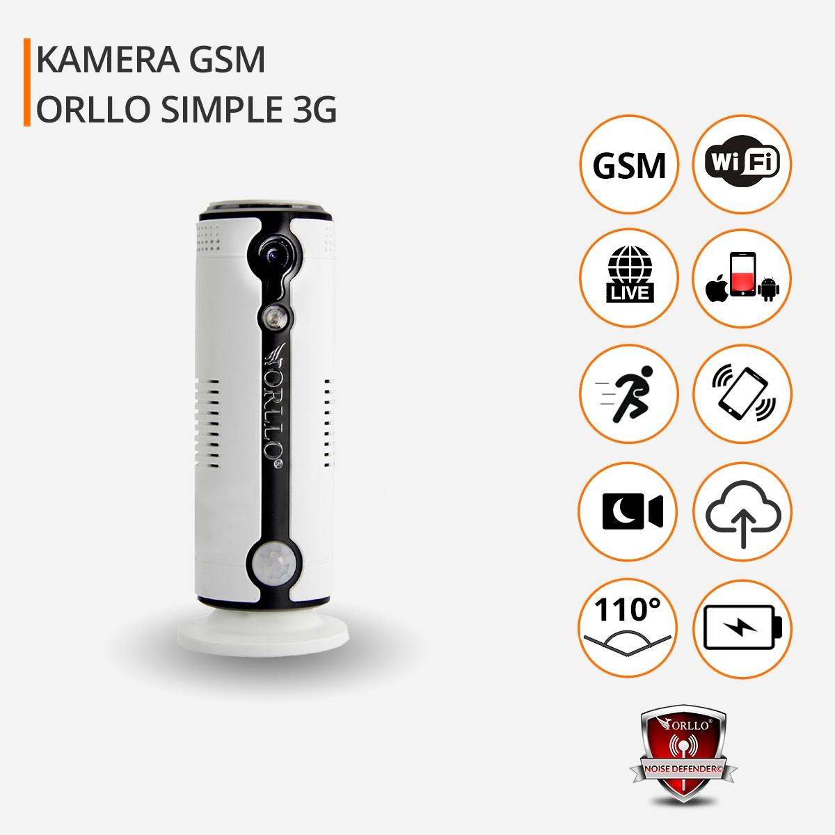 KAMERA HD GSM SIM 3G BATERIA + KARTA 32GB PODGLĄD Obudowa inna