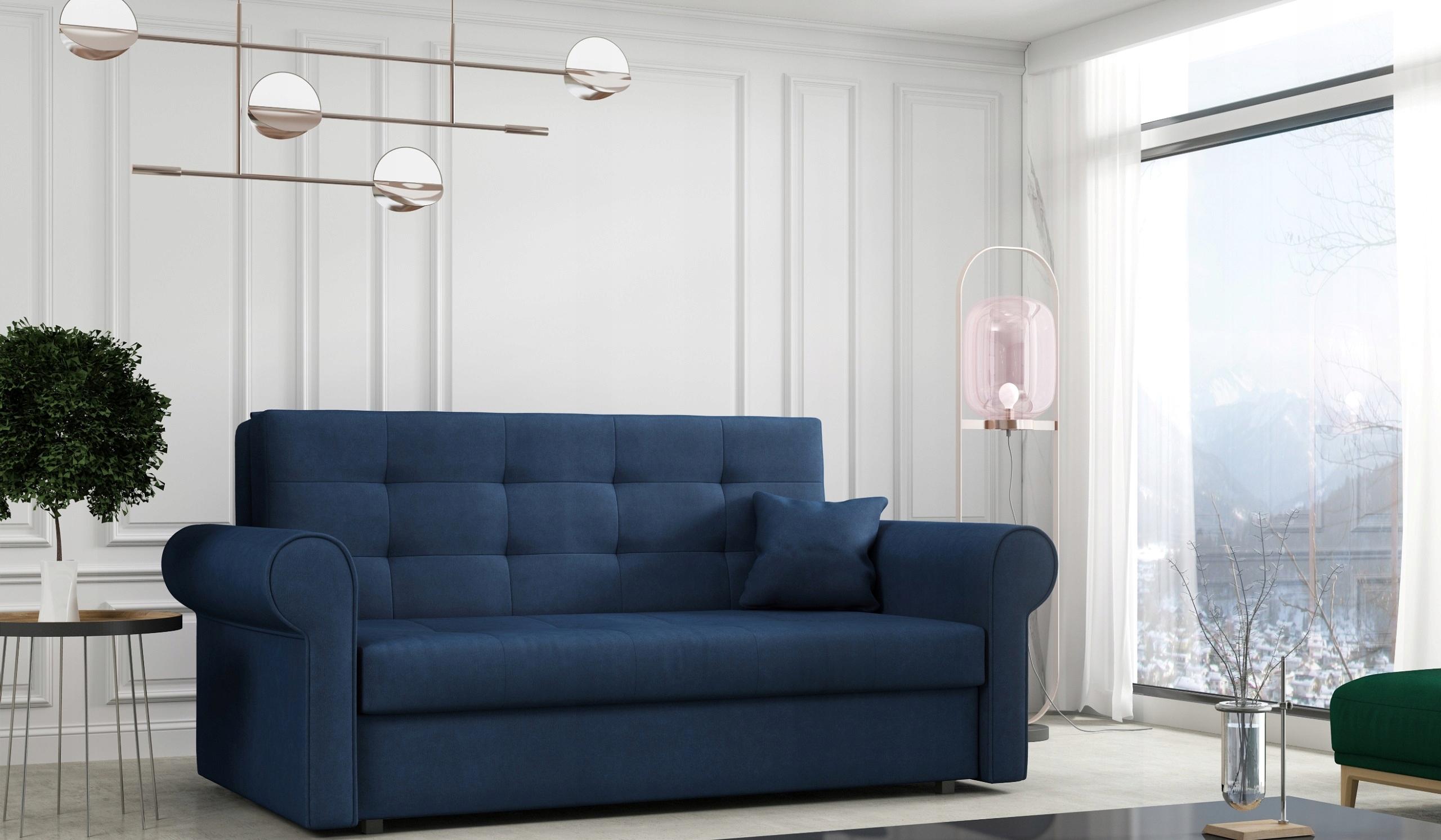 VIVA III SILVER sofa rozkładana pojemnik tapczan