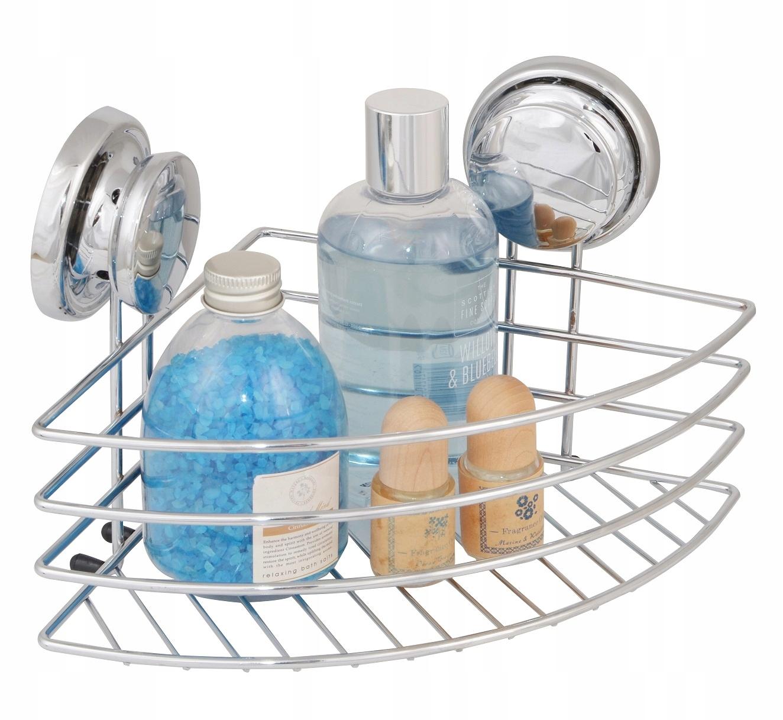 Koszyk łazienkowy narożny półka pod prysznic CHROM