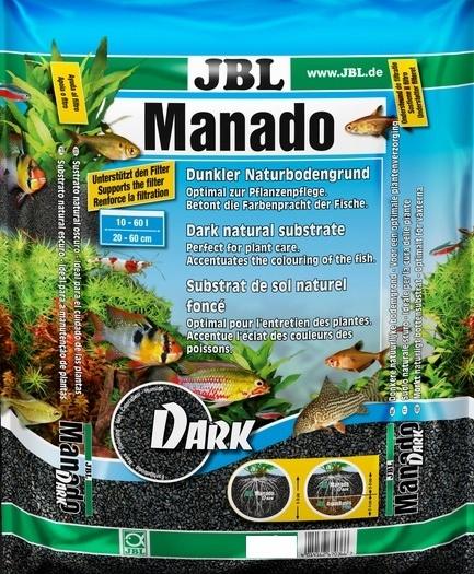 JBL MANADO 10 L DARK PÔDY PRE AKVÁRIUM PELETY