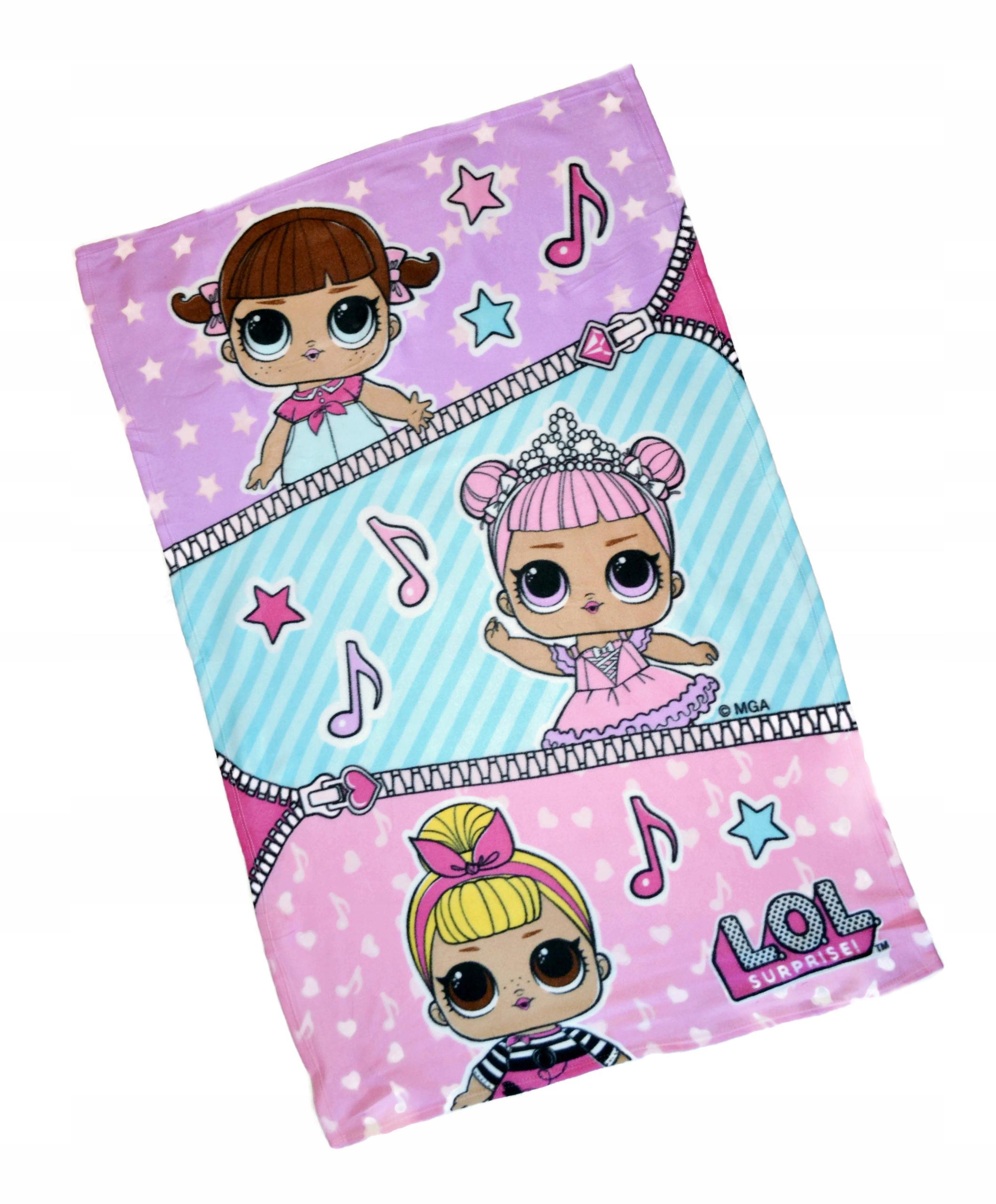 Deka Dolls L.O.L 150/100 fleecová deka