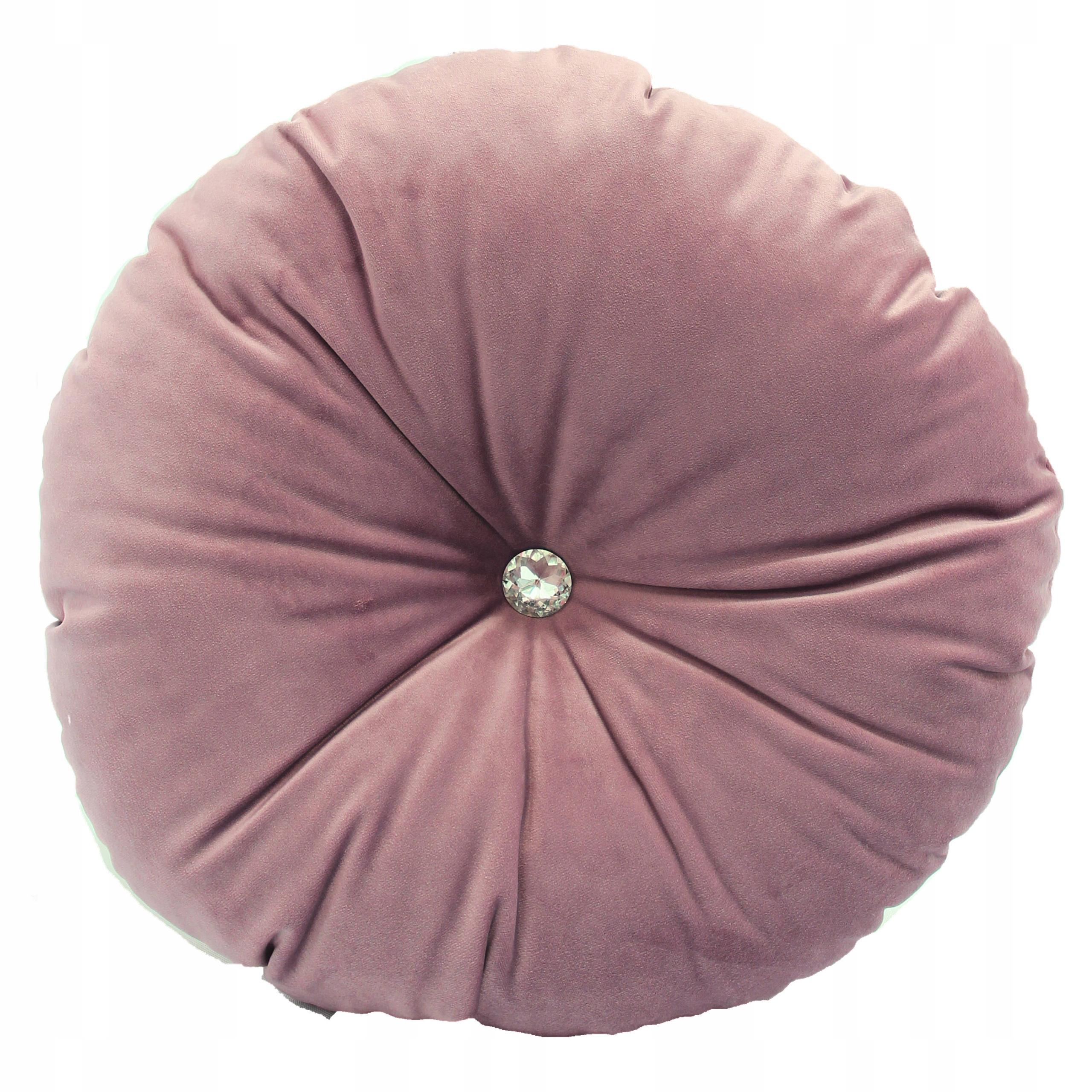 Подушка для пуговиц с круглым кристаллом пыльно-розовый