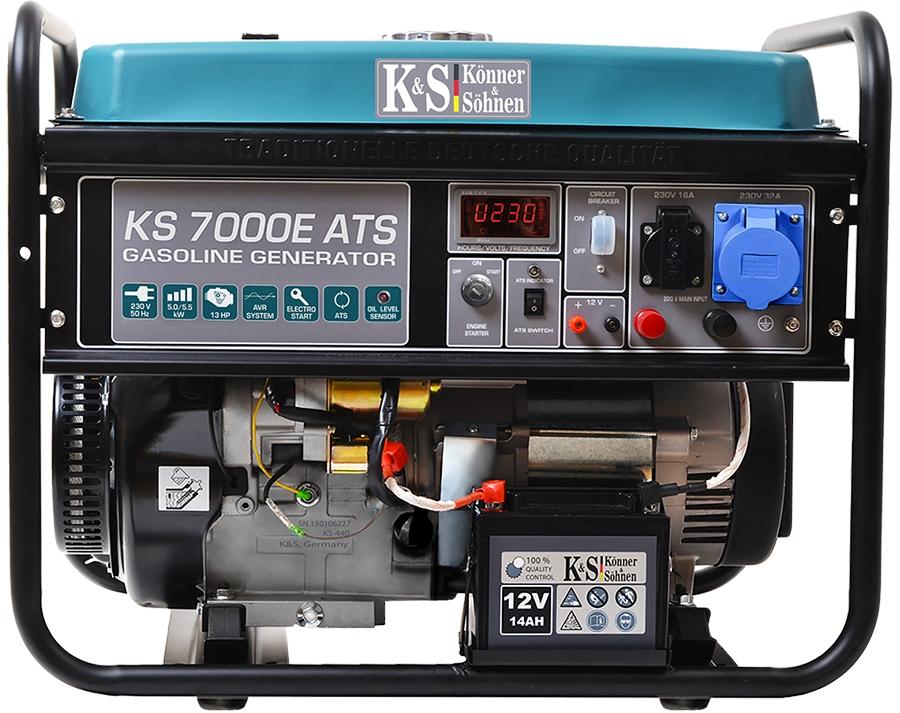 Agregat prądotwórczy K&S KS 7000E ATS benzyna