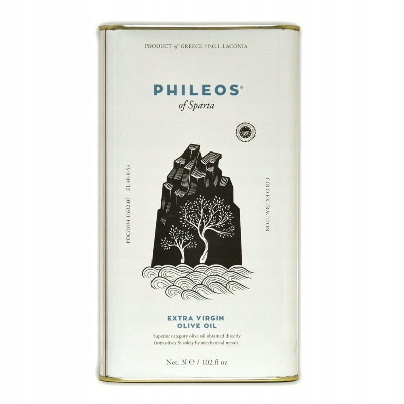 Olivový olej PHILEOS z Sparta, Banka 5 Litrov