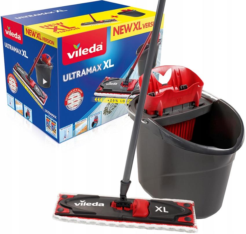 Mop Vileda Ultramax Box XL + wiadro + wyciskacz
