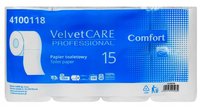 VELVET Care туалетная бумага 8шт БЕЛЫЙ мягкий