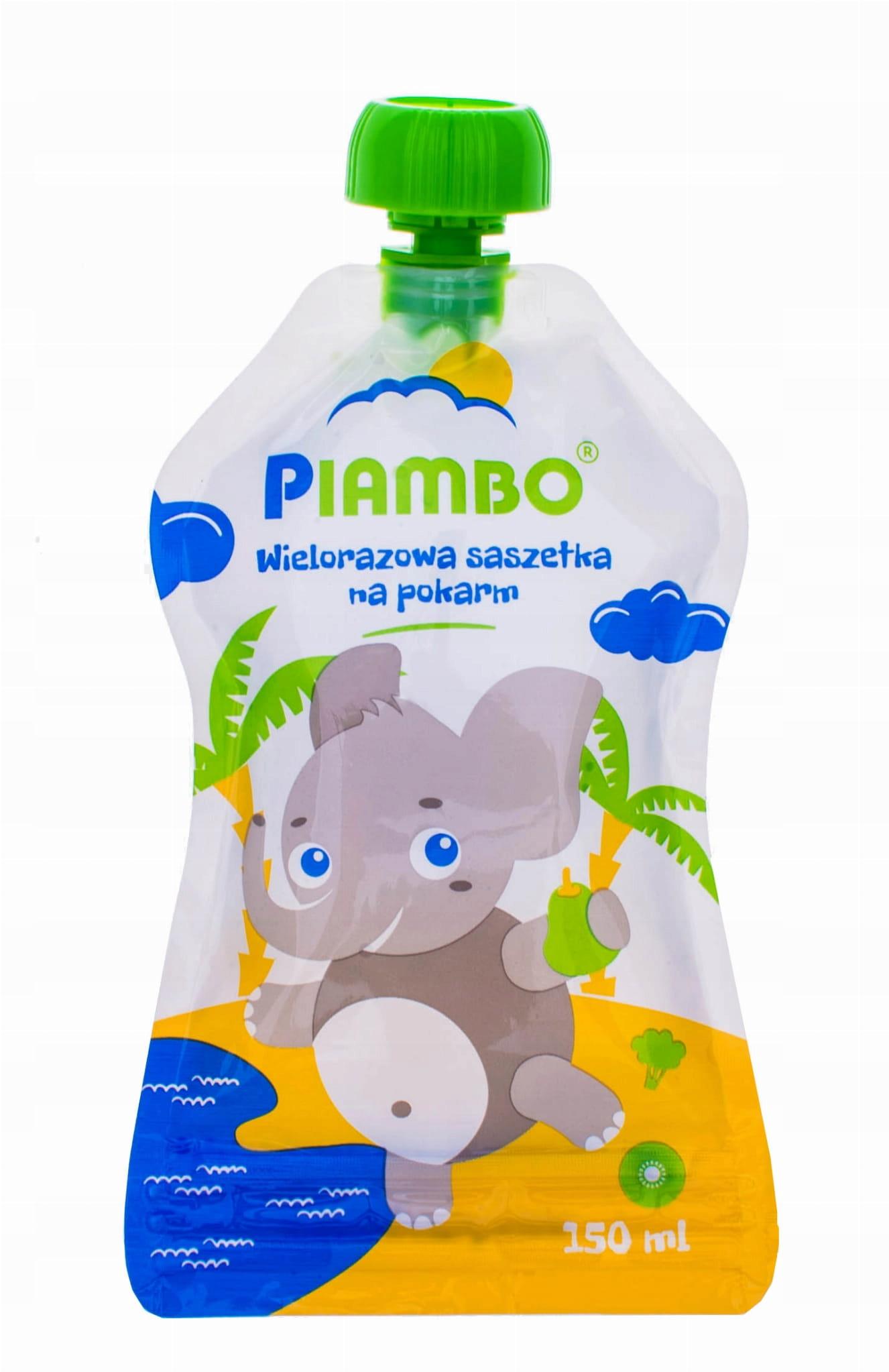 Купить Wielorazowe пакетика на корм PIAMBO 150 мл слон на Otpravka - цены и фото - доставка из Польши и стран Европы в Украину.