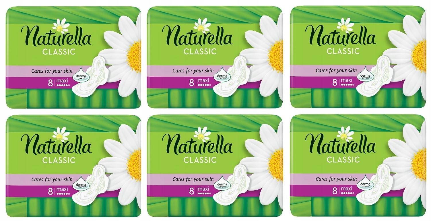 Гигиенические прокладки NATURELLA CLASSIC MAXI (8 шт) х 6 кол-во в упак