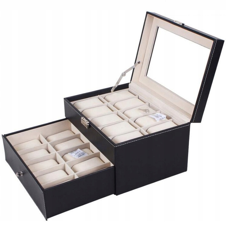 Item BOX BOX CASE FOR 20 WATCHES WATCH PD46