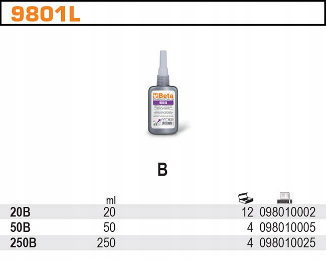 Анаэробный клей для резьбы 250ml BETA 9801l / 250B другой бренд