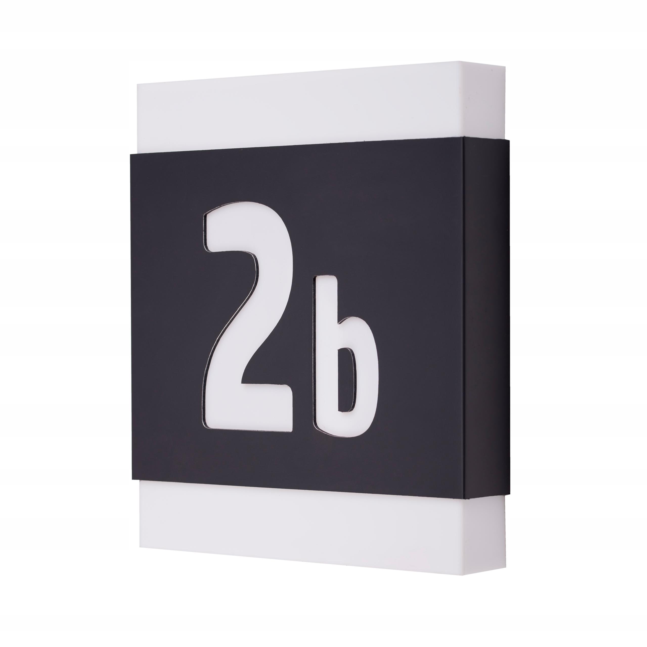 Podświetlany numer domu 23 x 27 cm LED