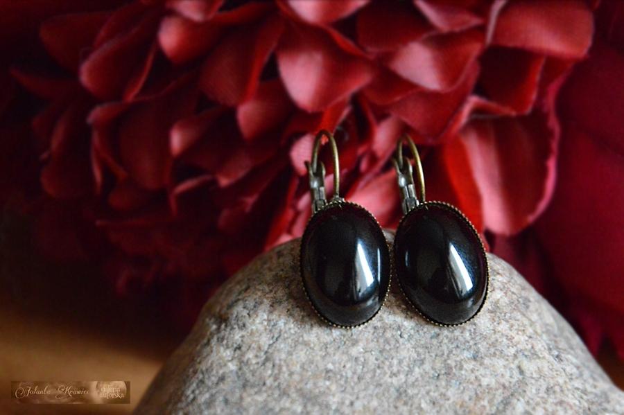 Black onyx Náušnice kolekcia vintage Galéria