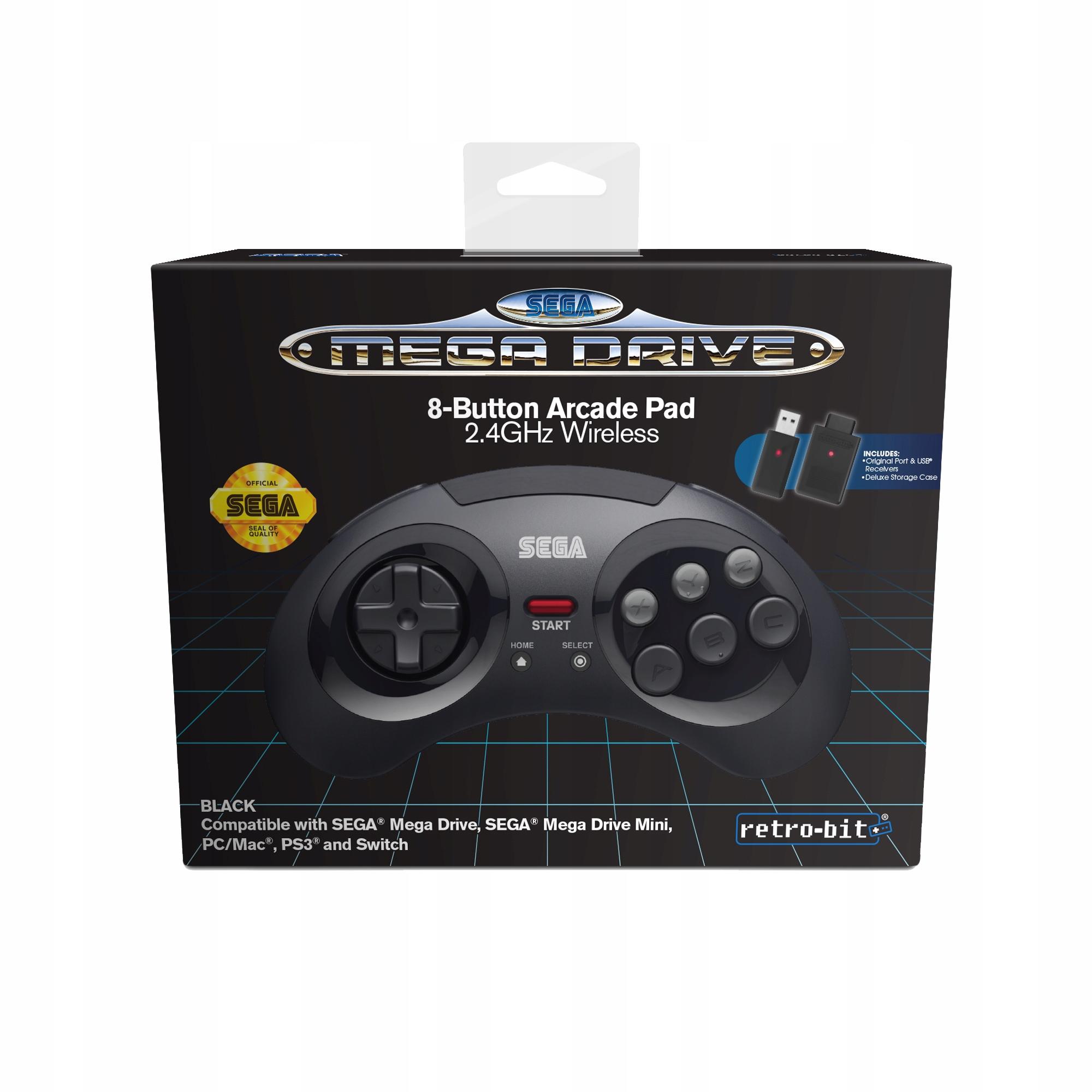 Sega Mega Drive Black Pad 2.4GHz Multiplatform