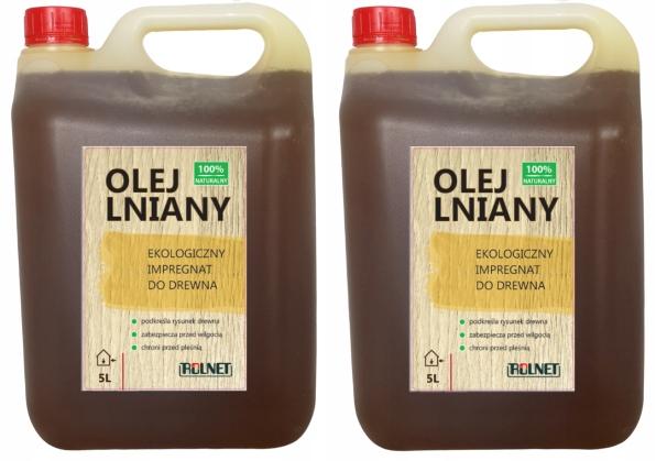 Льняное масло Пропитка для дерева, 100% натуральный 10л