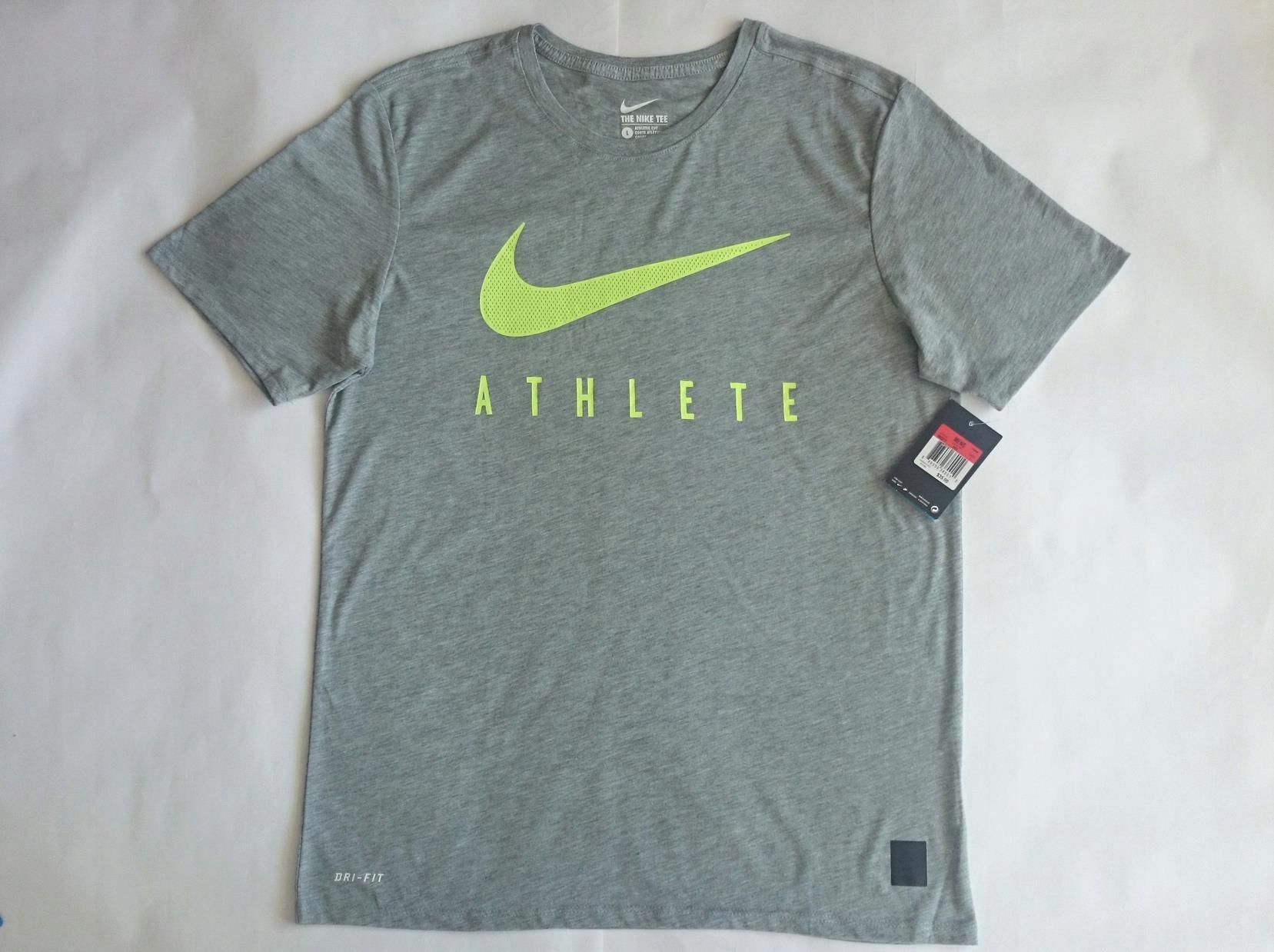 320539b64 NIKE SWOOSH T-Shirt Athletic Cut Tee DRI FIT L USA 7492117694 - Allegro.pl