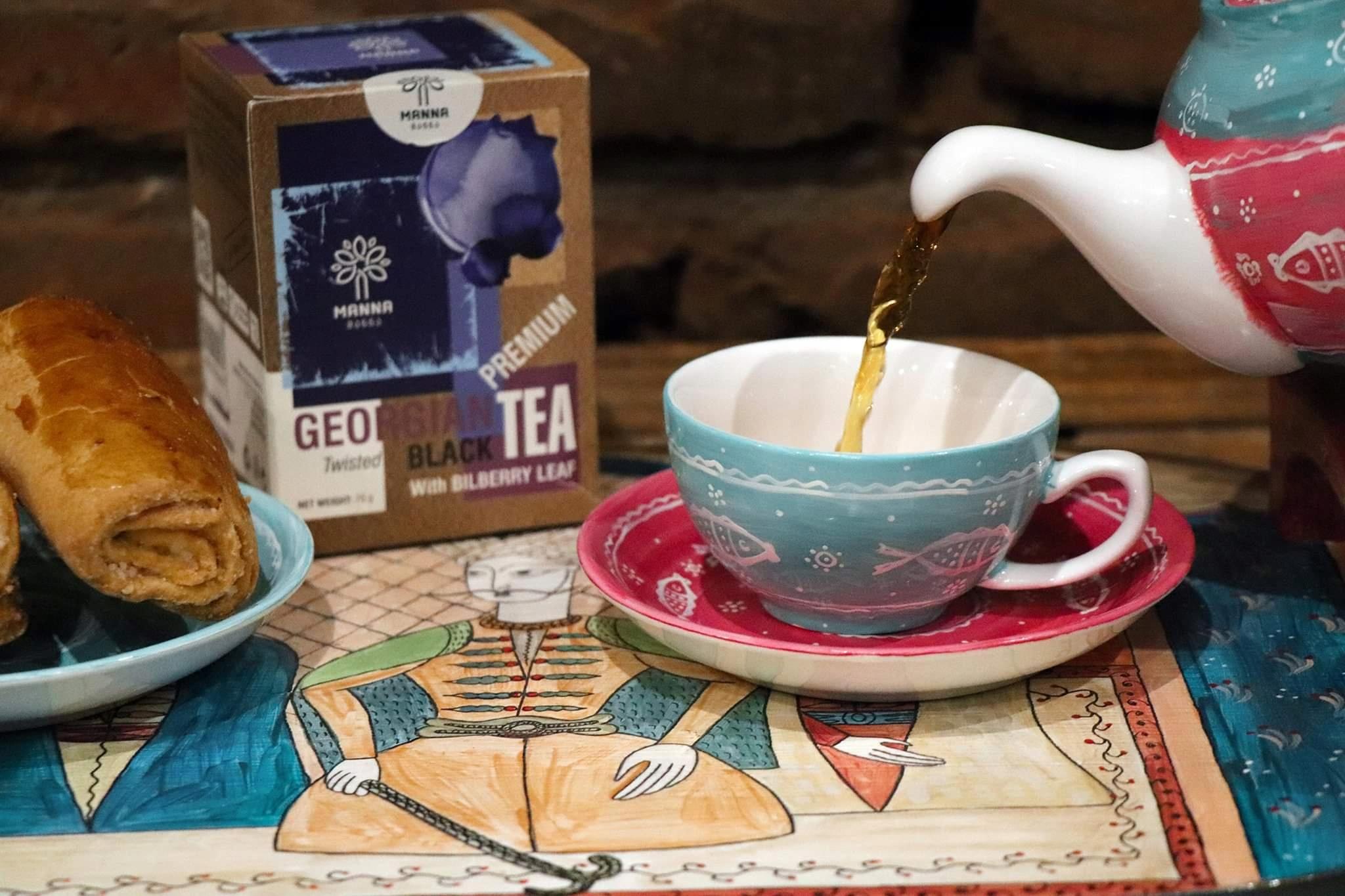 Czarna herbata+liści borówki BEZ PESTYCYDÓW Gruzja Nazwa handlowa Czarna herbata z liści borówki