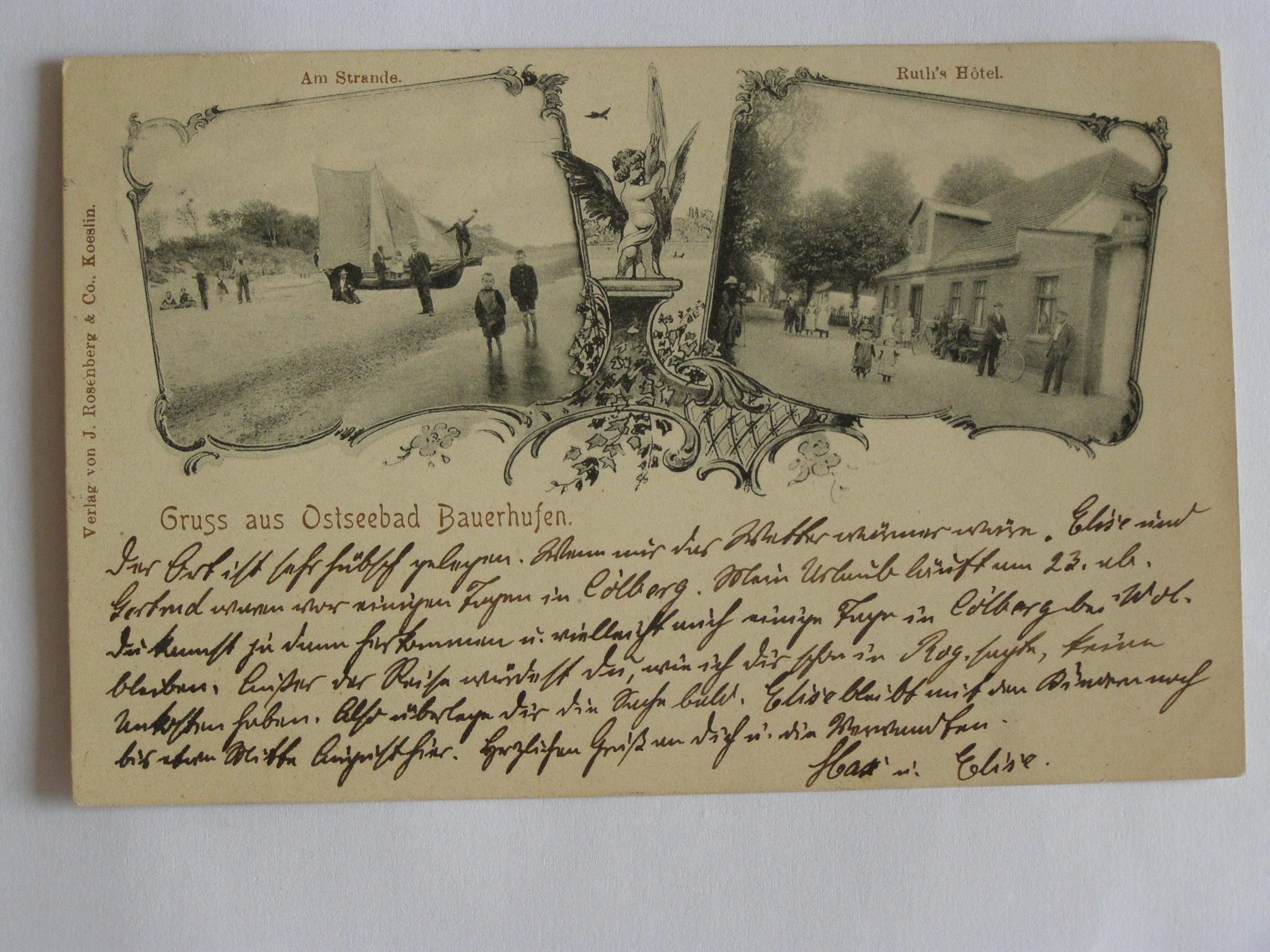 Chłopy Bauerhufen Koszalin hotel 1902 secesja