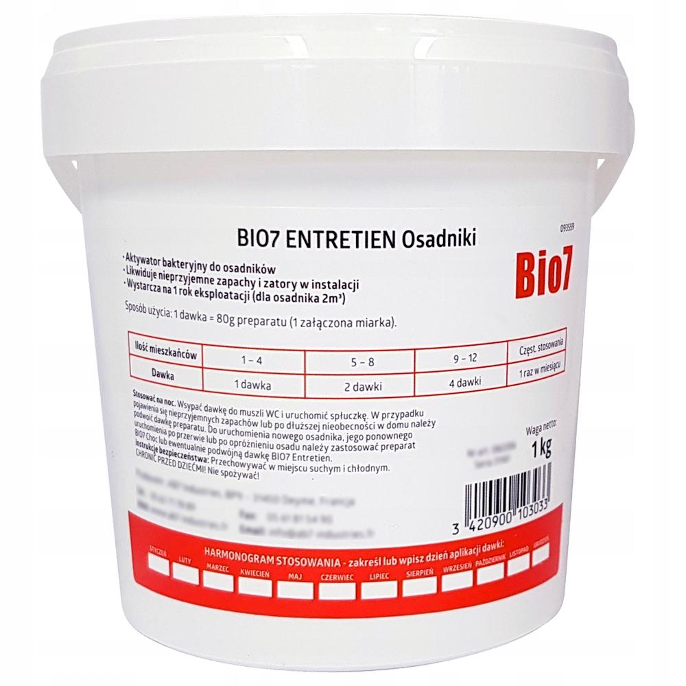 Bio7 Entretien 1кг БАКТЕРИИ для СЕПТИКОВ ЭКО в ГОД