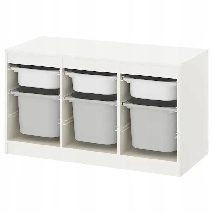 IKEA TROFAST regał BIAŁY + 6 pojemników na zabawki