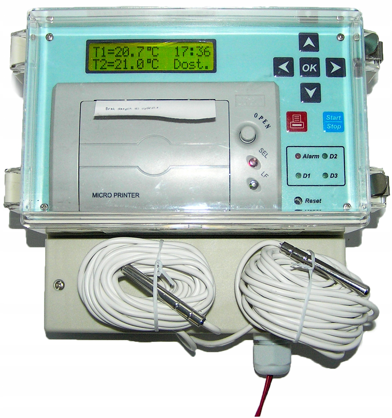 приводимый в действие для радиаторов регистратор температуры dr400