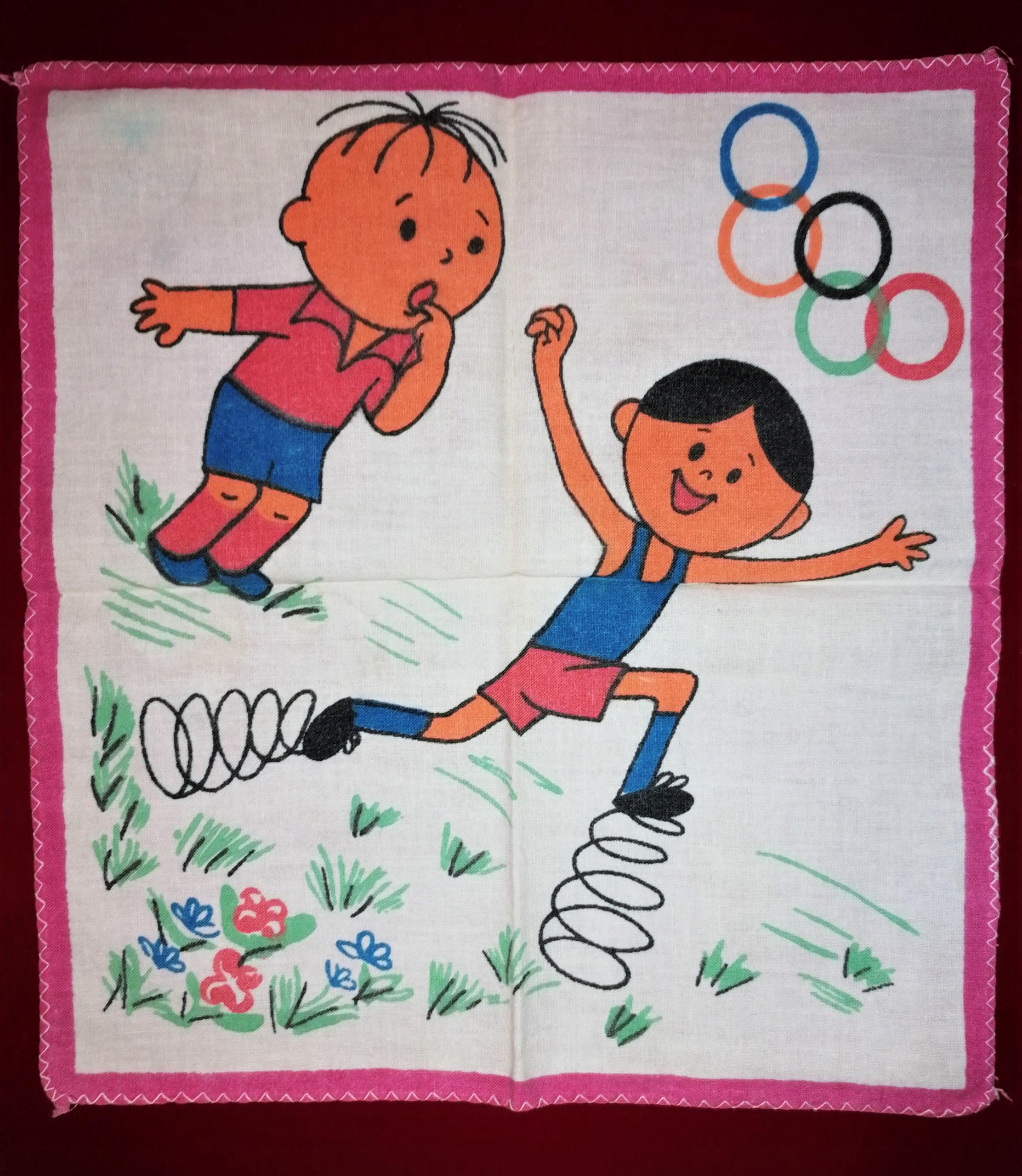BOLEK i LOLEK Olimpiada chusteczka do nosa PRL 70