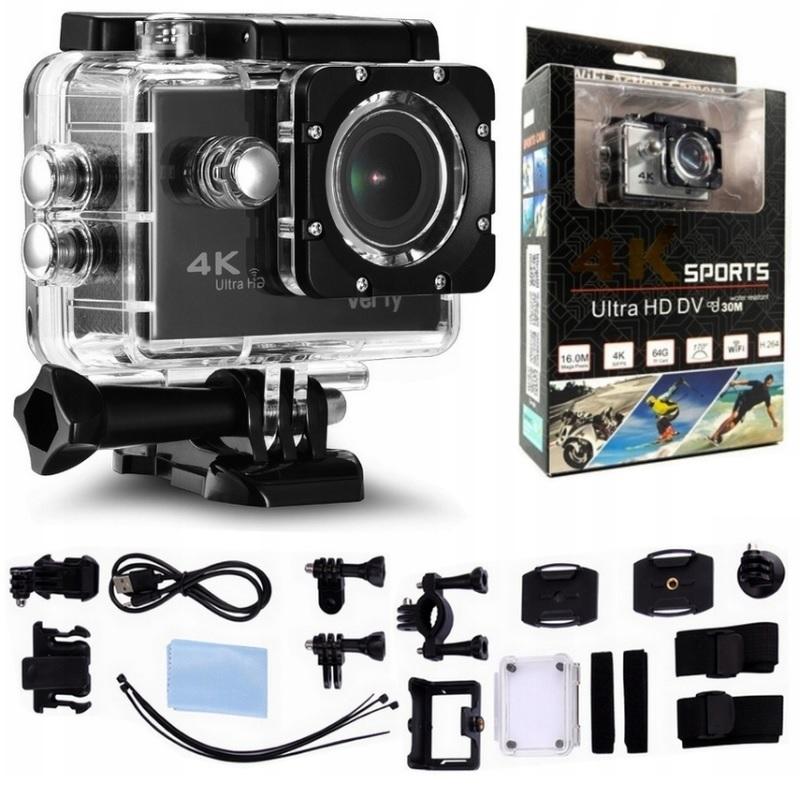 Спортивная видеокамера 4K ULTRA HD 1080p +30м Водостойкая