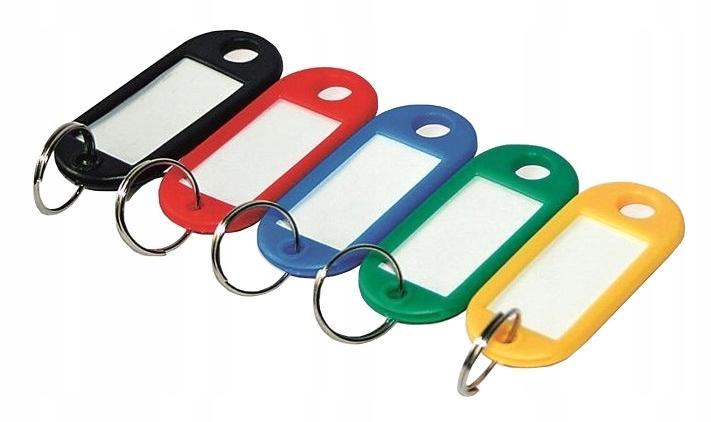 Item Keyfobs keychain for ID keys, mix 100 PCs