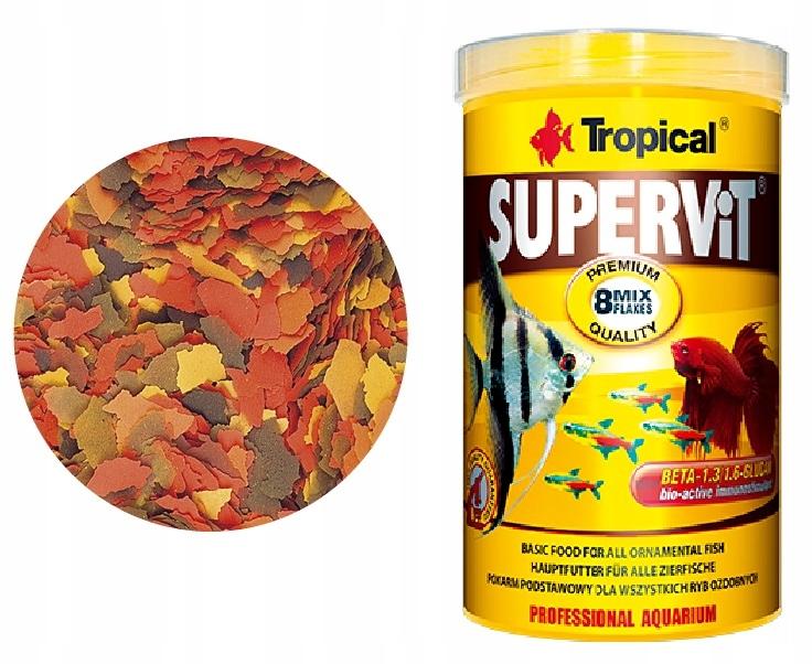 TROPICAL SUPERVIT 250ml - Pokarm Płatki Dla Ryb