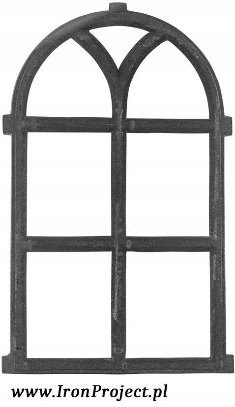 NOVÉ okná, liatinové semi-circular, retro 66x39cm