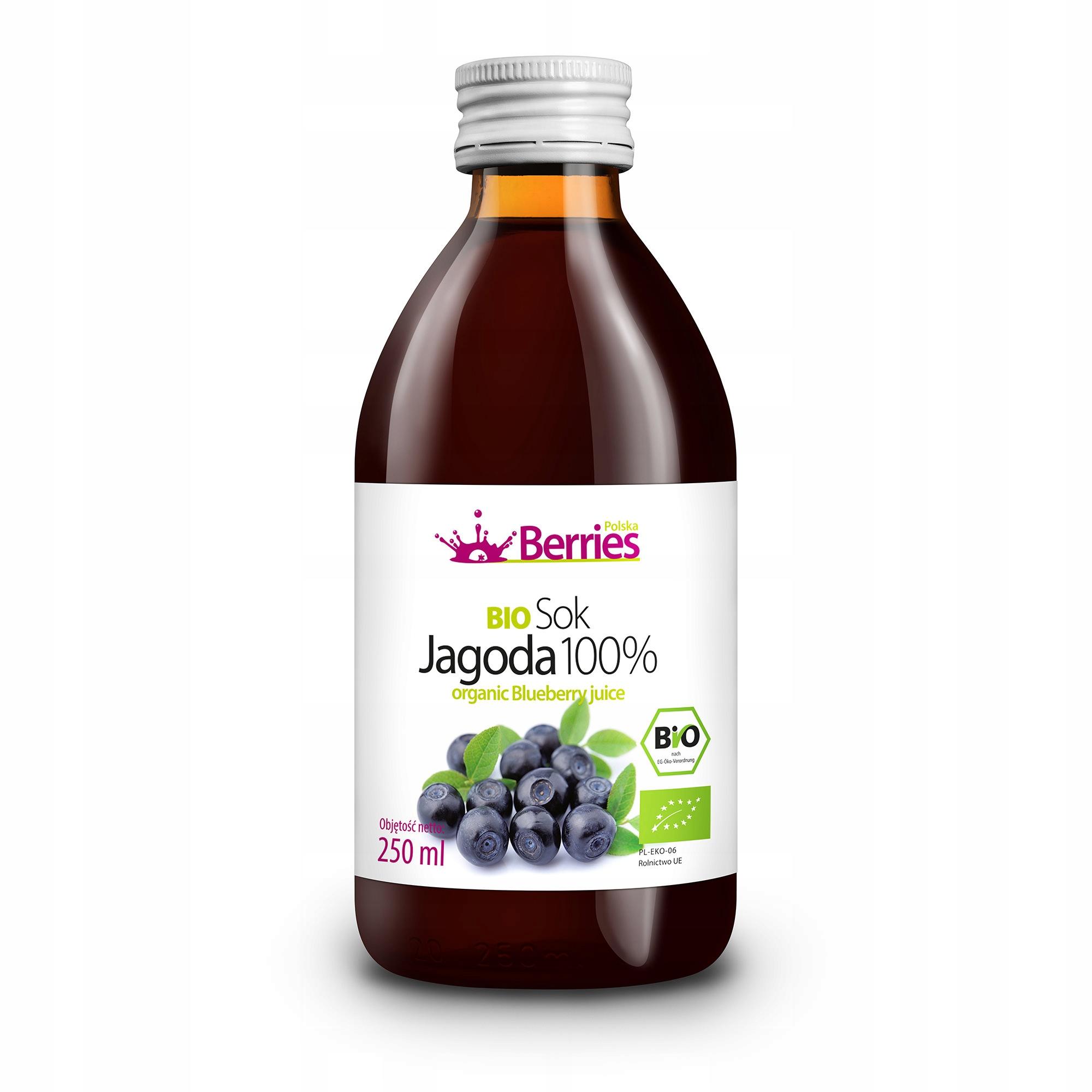 Sok BIO Jagoda 100% ekologiczny sok z jagód 250ml