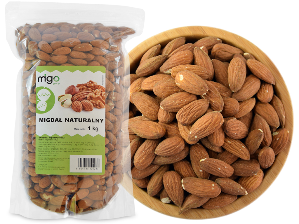 Item CALIFORNIA ALMONDS whole 1KG - MIGOgroup