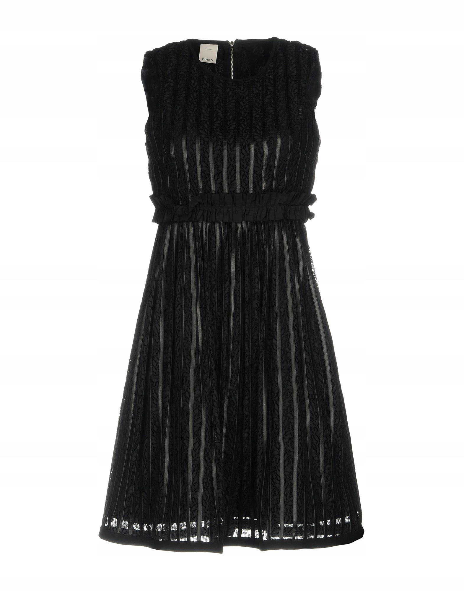 PINKO cudna sukienka koronka + skóra r. I40 na 34