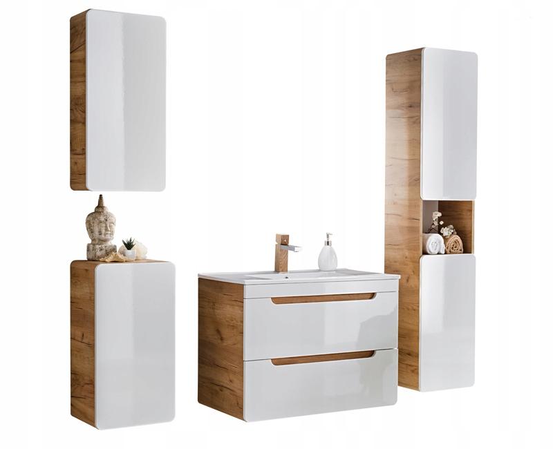 Nábytok pre kúpeľňa ALASKA biela kúpeľňa v lesk