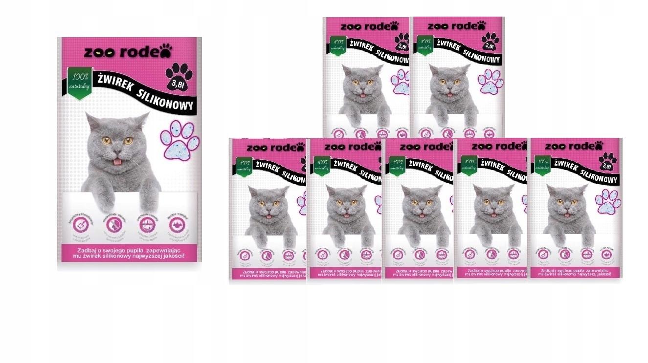 Кремниевый помет для кошек 8 x 3,8 л