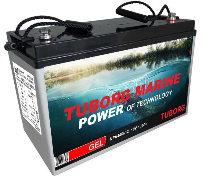 Batérie pre loď spoločnosť tuborg Morských GÉL 100 Ah Konin
