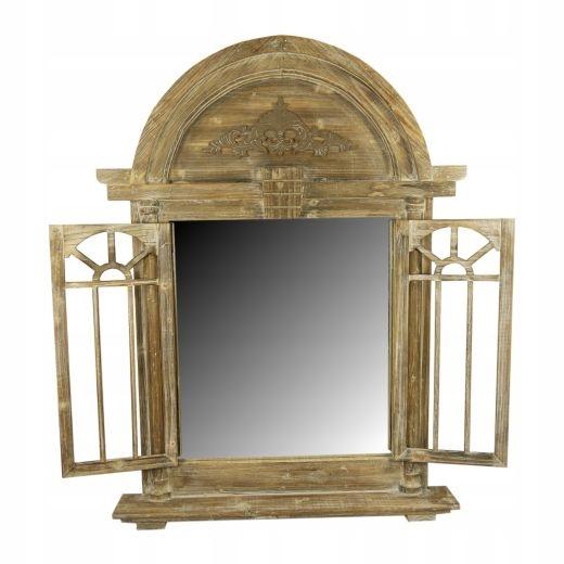 zrkadlo so žalúziami ornament hnedá VINTAGE veľké