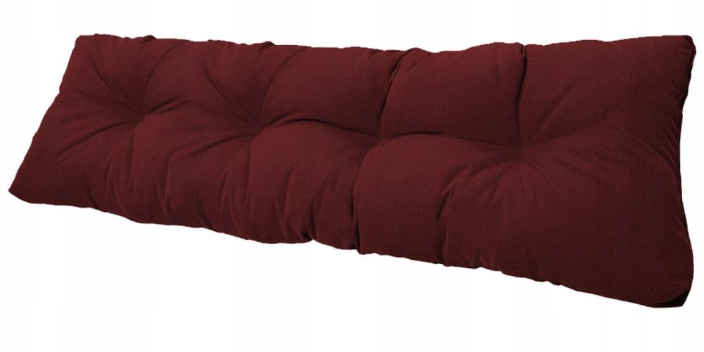 Подушка для садовой качели 120х38 бордовый
