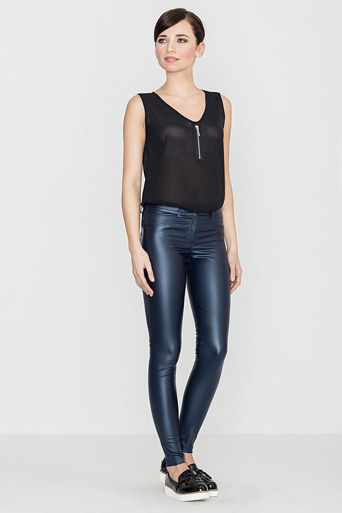 Eleganckie Skórzane Spodnie Rurki Damskie roz XL